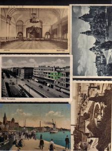 5 Ansichtskarte Stettin Saal Reichsadler Ufa Palast Paradeplatz Dampfschiffbollwerk