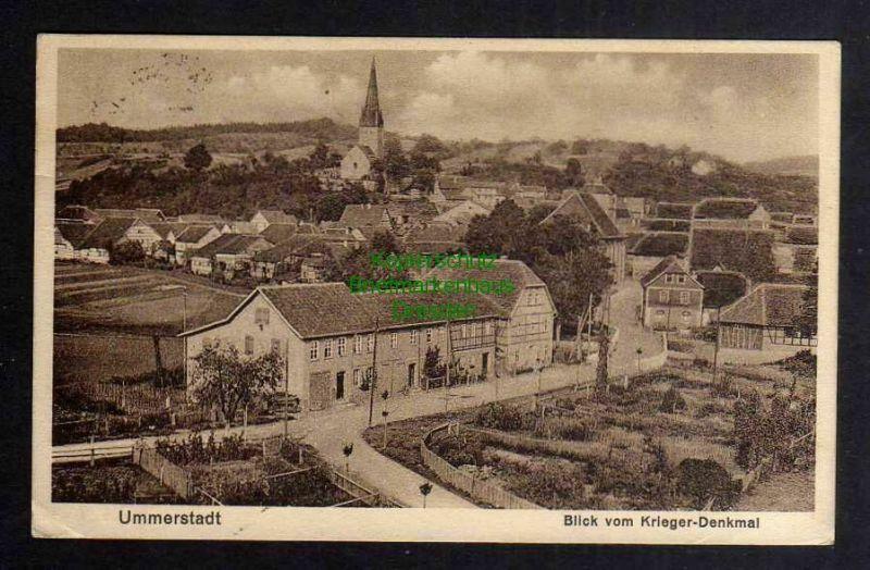 Ansichtskarte Ummerstadt 1931 Blick vom Kriegerdenkmal