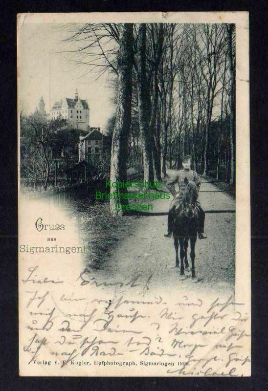 Ansichtskarte Sigmaringen 1898