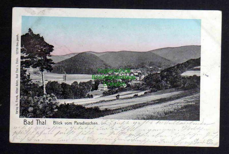 Ansichtskarte Bad Thal Hzgt. Gotha Blick vom Paradieschen 1906