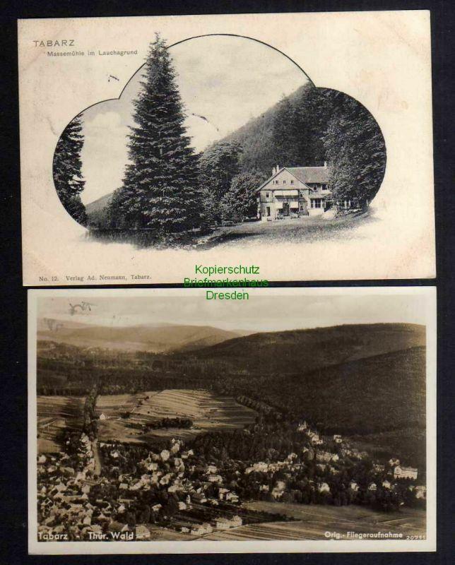 2 Ansichtskarte Tabarz 1905 Massemühle im Lauchagrund Luftbild Fliegeraufnahme