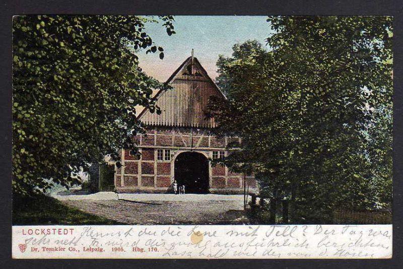 Ansichtskarte Hamburg Lockstedt einzelnes Haus Fachwerkhaus