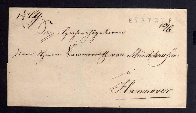 B2601 Eystrup Brief 1845 Vorphila Hannover