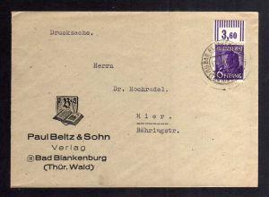 B2608 Alliierte Besetzung Brief 6 Pfg. Arbeiter OR Walze