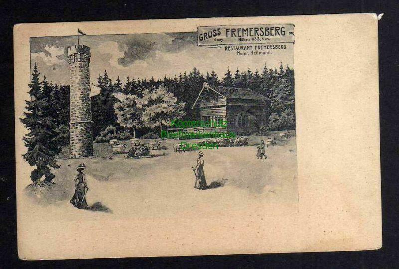 Ansichtskarte Fremersberg Turm um 1900 Restaurant