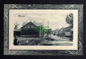 Ansichtskarte Vojens Woyens Schlesvig 1920 Windmühle Mole Dorfstraße