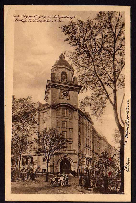 Ansichtskarte Lemberg Staatsbahndirektion Feldtransportleitung 1916