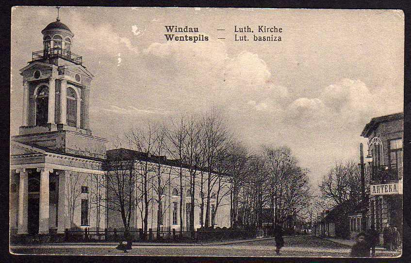 Ansichtskarte Ventspils Windau Kirche Wentspils Lettland Kurland Kurzeme