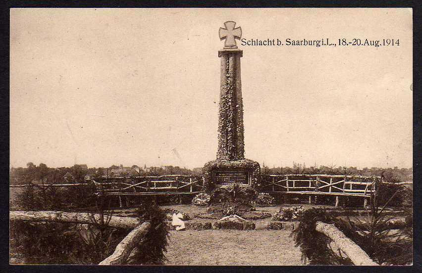 Ansichtskarte Denkmal bei Niederweiler 1917 Schlacht bei Saarburg