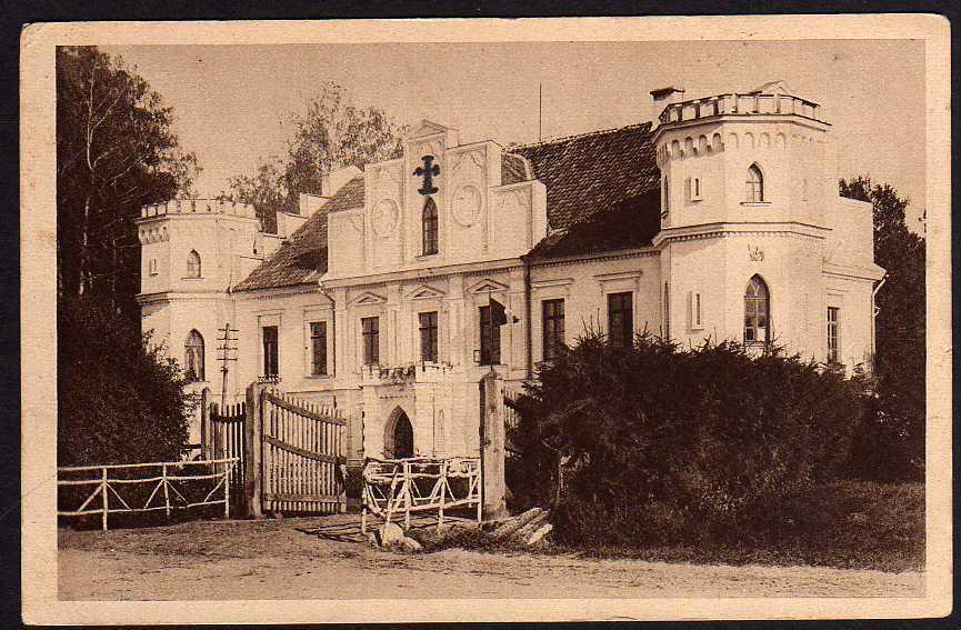 Ansichtskarte Schloß Sorgenfrei 1917 Kurland Kurzeme Lettland