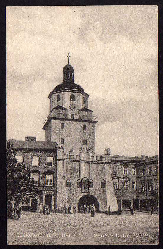 Ansichtskarte Pozdrowienie Z Lublina Brama Krakowska 1915