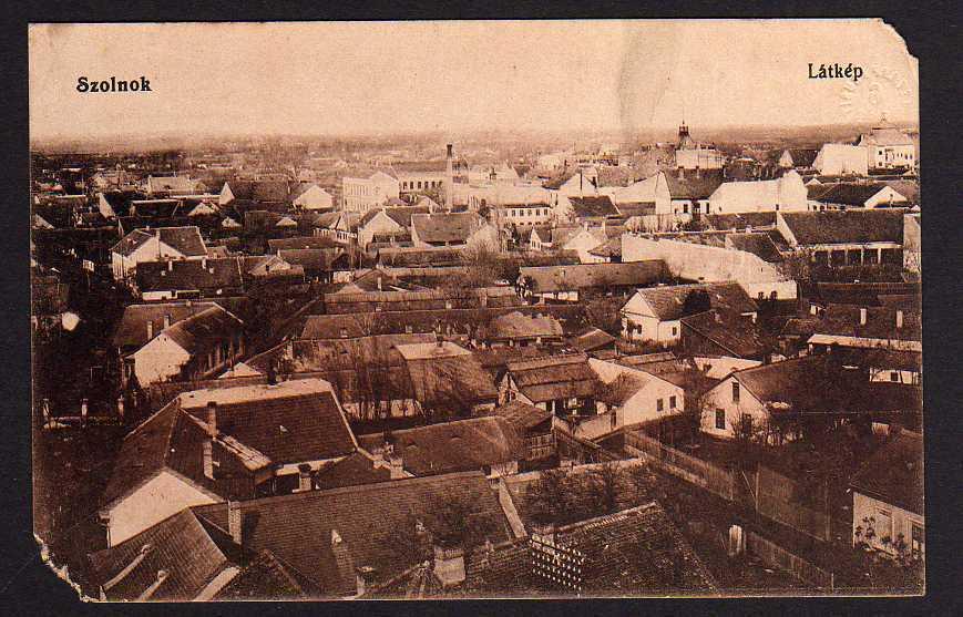 Ansichtskarte Szolnok Sollnock Ungarn Latkep 1915 Feldpost Panorama