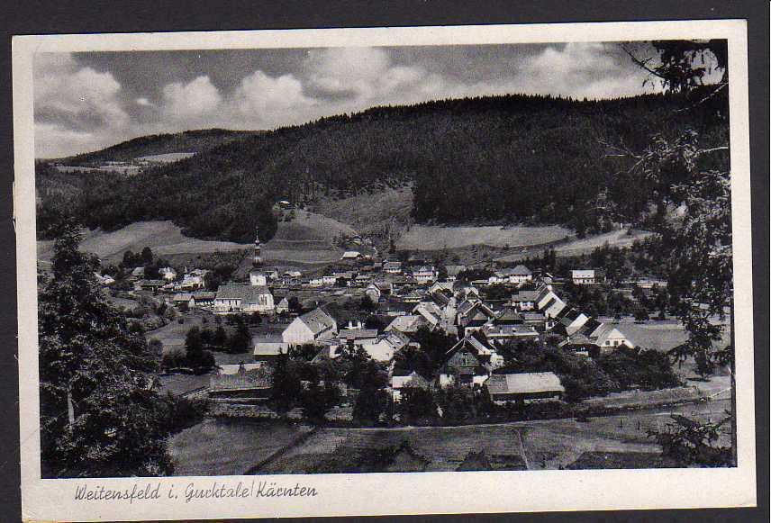 Ansichtskarte Weitensfeld im Gurktal bei Sankt Veit an der Glan Kärnten Panorama 1943