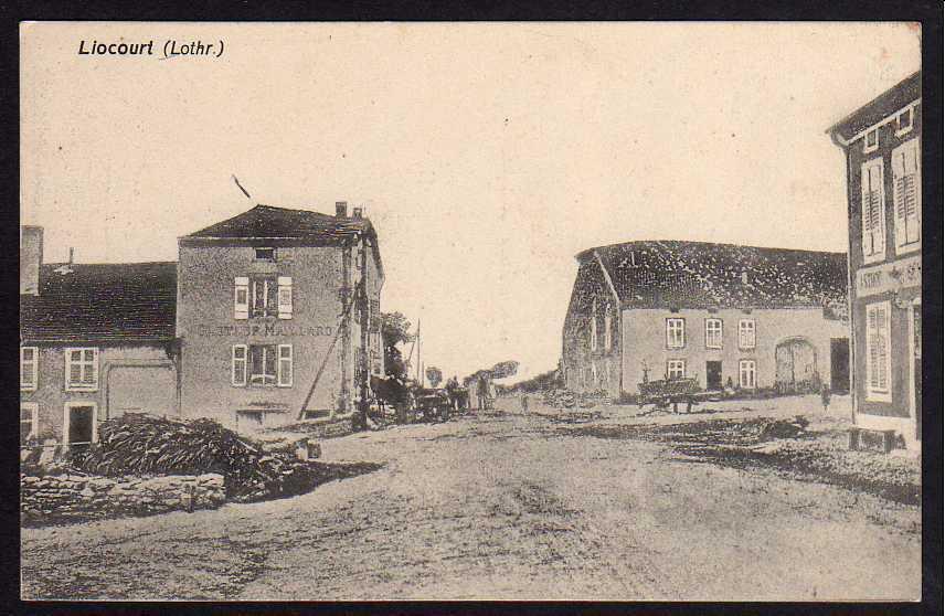 Ansichtskarte Liocourt Lothringen 1915