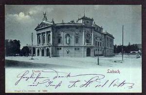 Ansichtskarte Ljubljana Laibach 1899 Theater