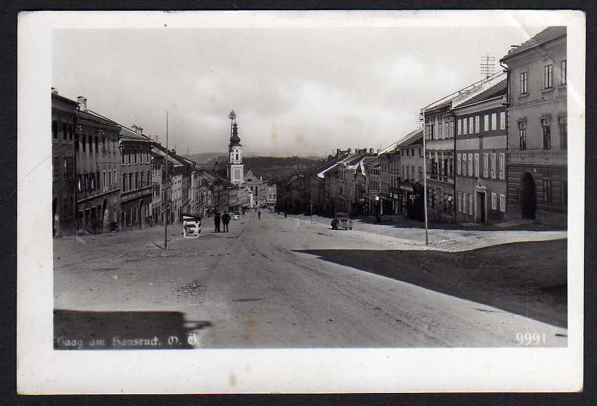 Ansichtskarte Haag am Hausruck Markt Straße Kirche Fotokarte um 1935