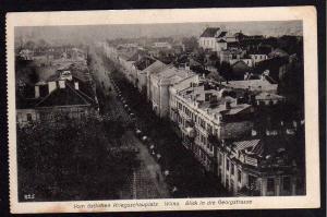 Ansichtskarte Wilna Vilnius 1916 Blick v.d. Georgstraße Feldpost Oberkommando Armee