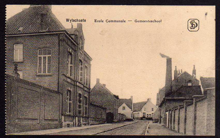 Ansichtskarte Wytschaete Ecole Comunale Gemeenteschool 1916 Wijtschate Westflandern