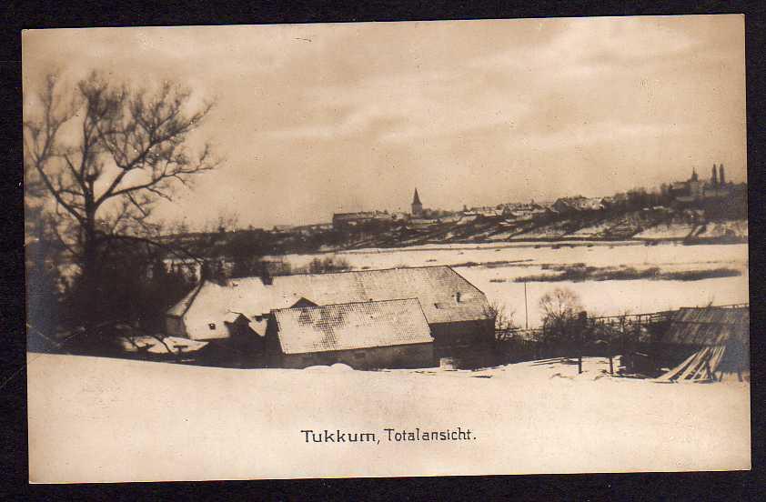 Ansichtskarte Tukkum Totalansicht 1916 Tuckum Fotokarte Feldpost Nr. 33 Lettland