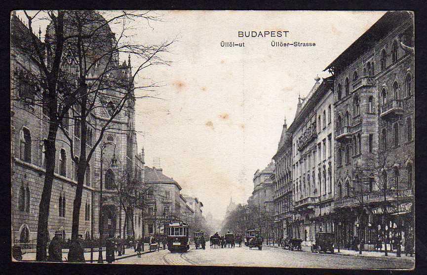 Ansichtskarte Budapest Üllöer Straße Üllöl ut 1917