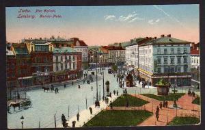 Ansichtskarte Lemberg Lwow 1918 Halicki Platz Feldpost