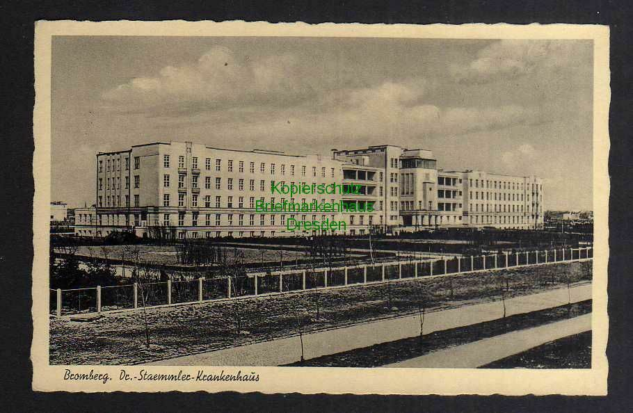 Ansichtskarte Bydgoszcz Bromberg Dr. StaemmlerKrankenhaus um 1935