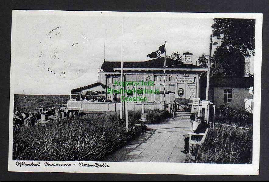 Ansichtskarte Dziwnow Ostseebad Dievenow Strandhalle 1937