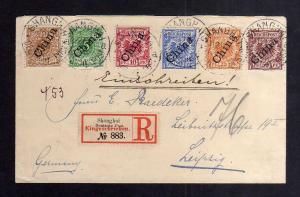 B2624 DP in China 1900 Einschreiben Satzbrief Leipzig gepr. Jäschke-L. BPP