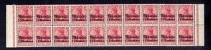 B2200 Deutsche Post in Marokko 20x 36 ** postfrisch Bogenteil Mi. 360.-