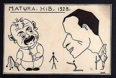 Ansichtskarte Bern Matura HIB H I B 1928 Studentika Künstlerkarte