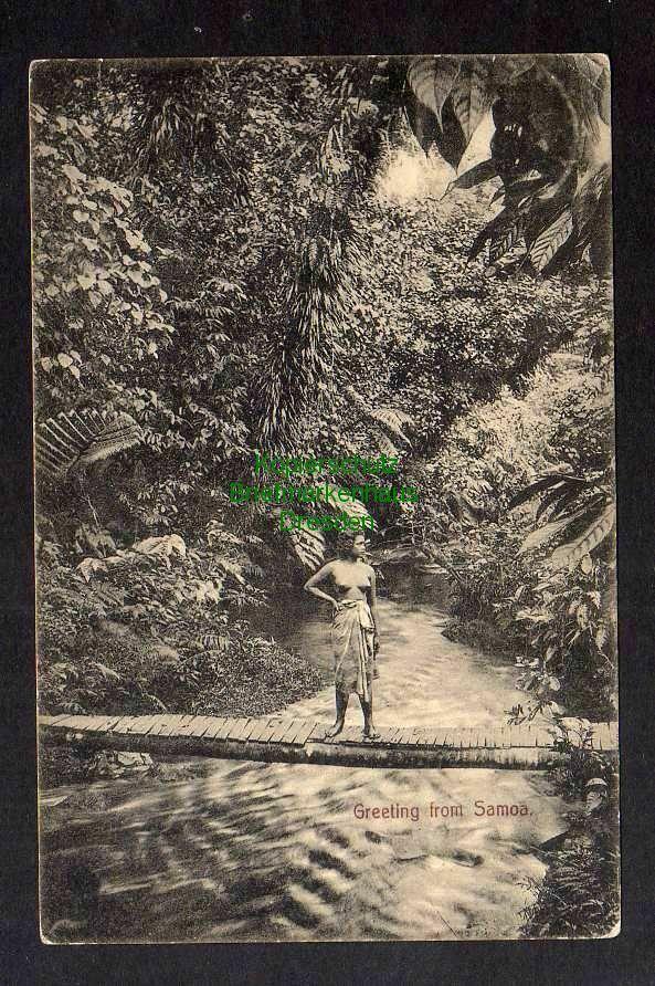 Ansichtskarte Apia Samoa an Matrose Kreil SMS Condor s interessanter Bericht Krieg
