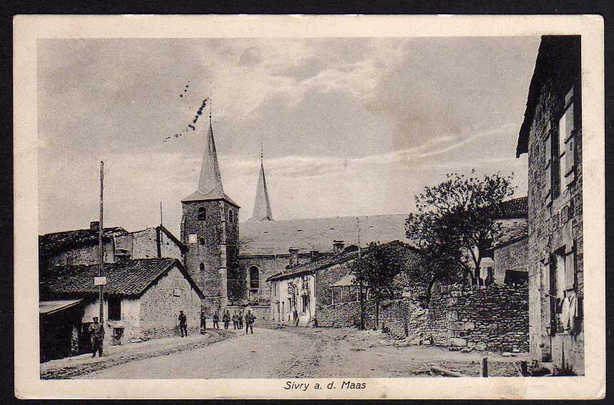 Ansichtskarte Sivry a.d. Maas 1916 Feldpost Lothringen
