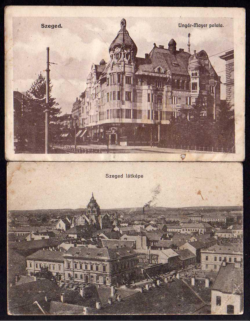 2 Ansichtskarte Szeged Ungar Mayer palota latkepe Ungar-Mayer-Palast um 1915