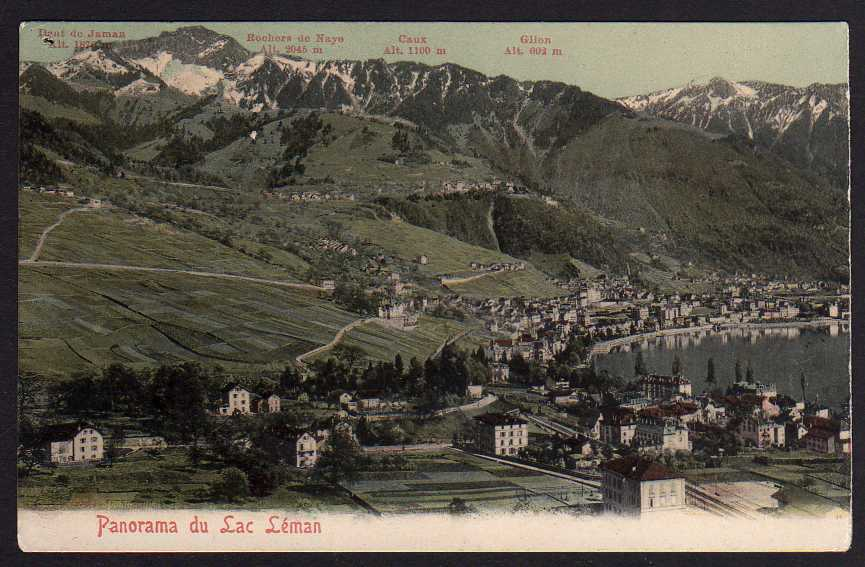 Ansichtskarte Genfersee Lac Leman Panorama 1905 Montreux