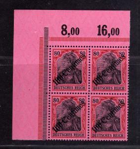 B2668 DP in der Türkei 4x 52 postfrisch ** Bogenecke Eckrand Viererblock