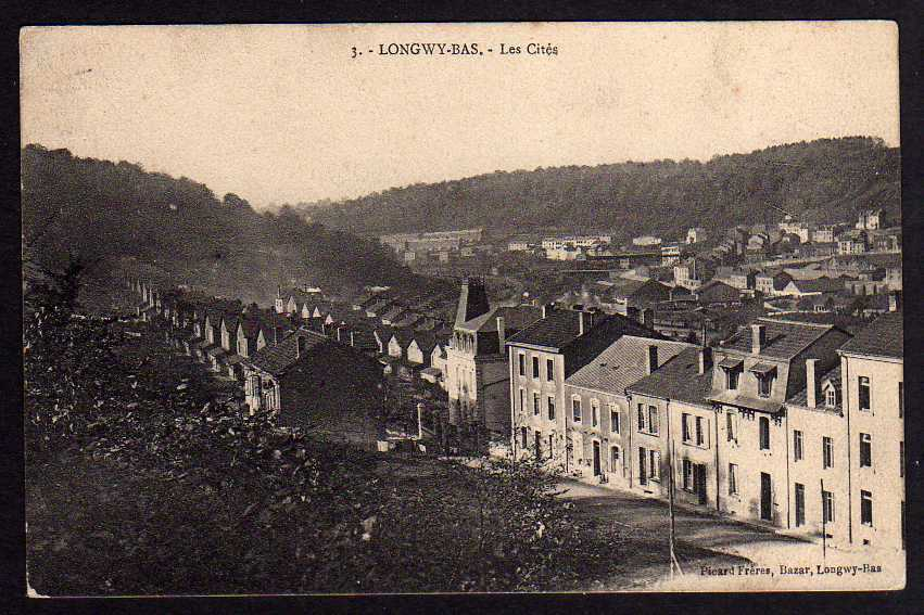 Ansichtskarte Longwy-Bas Les Cites um 1915 Feldpost Lothringen