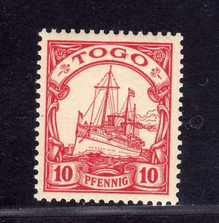 S230 Togo 9 postfrisch 1900 Borek Garantie Blatt 10 Pfg. ohne WZ