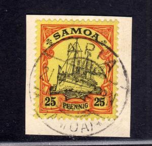 S227 Samoa 11 Briefstück gestempelt APIA Borek Garantie Blatt