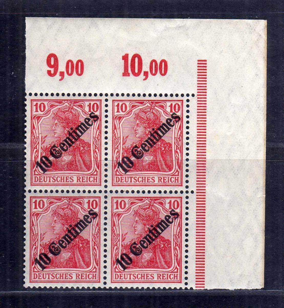 B2670 DP in der Türkei 4x 49 postfrisch ** Bogenecke Eckrand Viererblock
