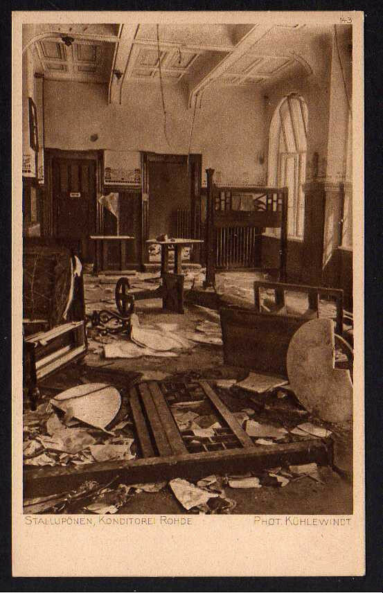 Ansichtskarte Stallupönen Konditorei Rohde Ostpreussenhilfe 1914 1916
