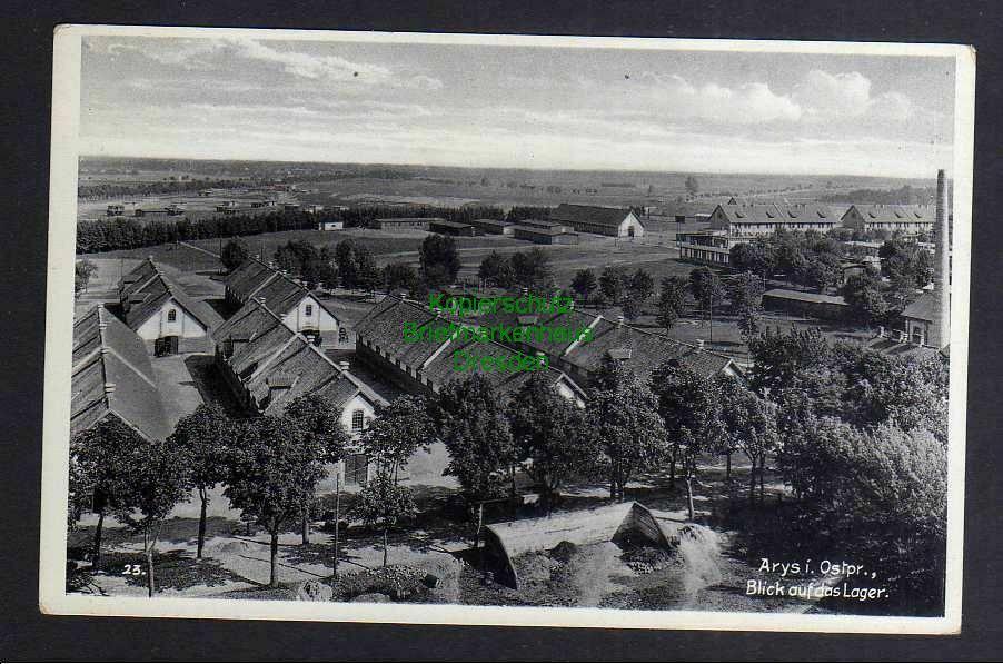Ansichtskarte Arys i. Ostpr. Blick auf das Lager