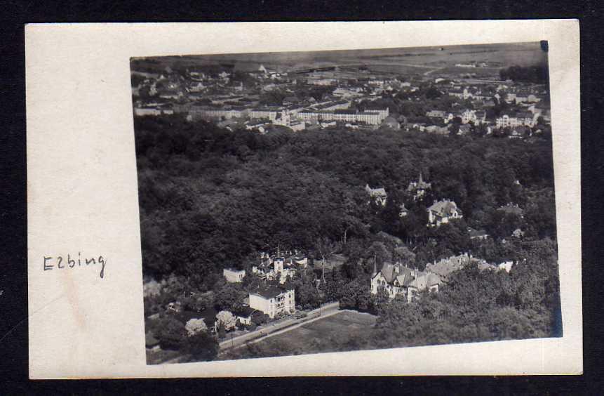 Ansichtskarte Elblag Elbing Ostpreußen um 1916 Fotokarte Luftbild Villa Wohnhäuser P