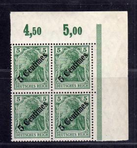 B2669 DP in der Türkei 4x 48 postfrisch ** Bogenecke Eckrand Viererblock