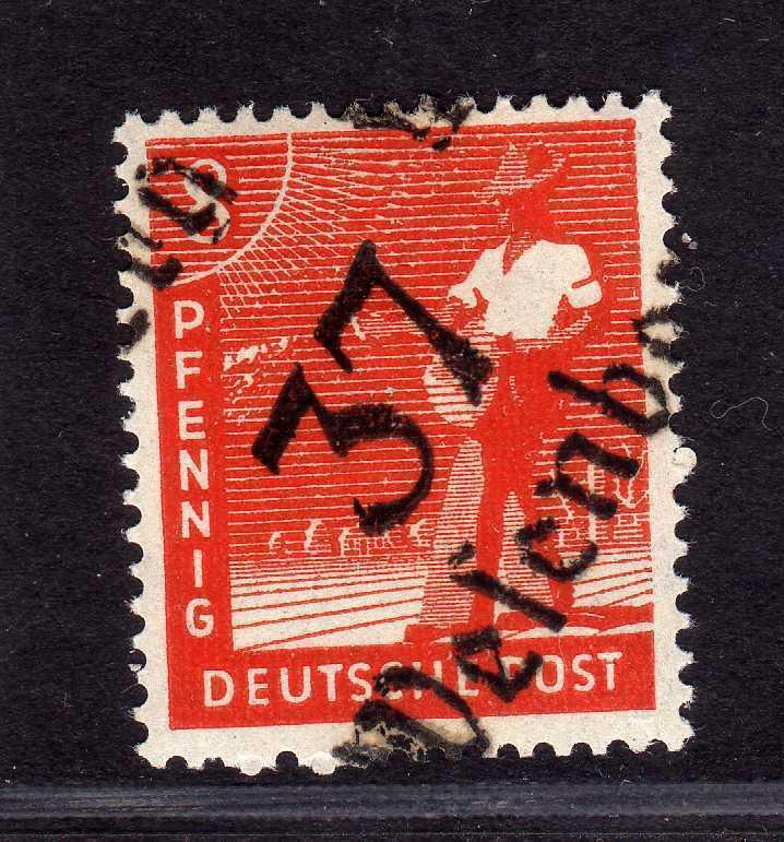 h2597 Handstempel Bezirk 37 Wesenberg 8 Pfennig * gepr. BPP