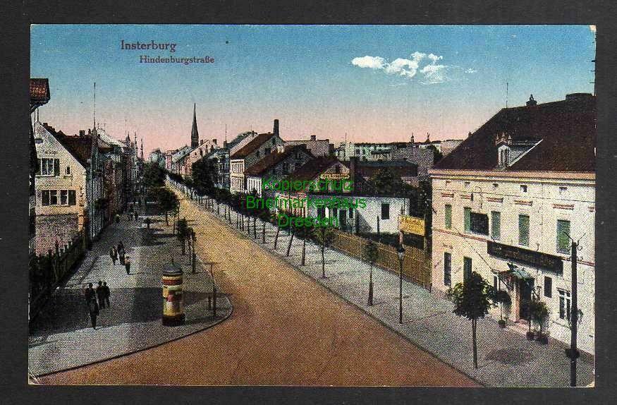 Ansichtskarte Insterburg Hindenburgstrasse um 1915