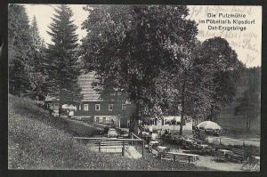 Ansichtskarte Putzmühle Pöbeltal b. Kipsdorf Ost Erzgebirge