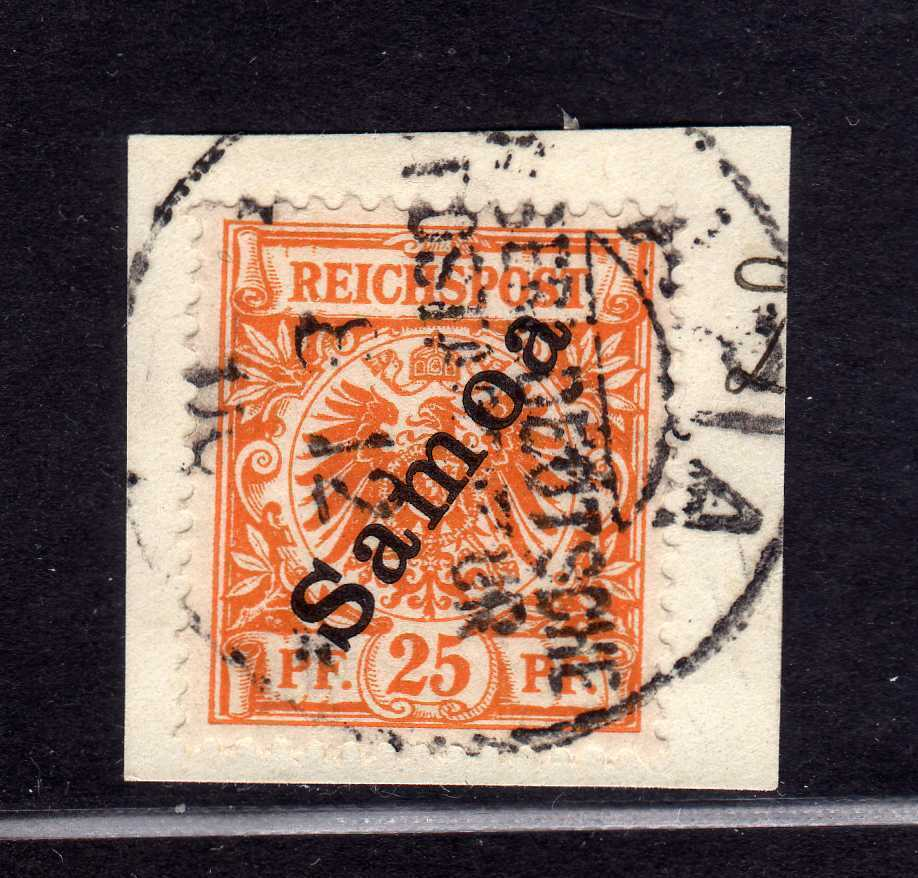 S226 Samoa 5 Briefstück gestempelt APIA Borek Garantie Blatt