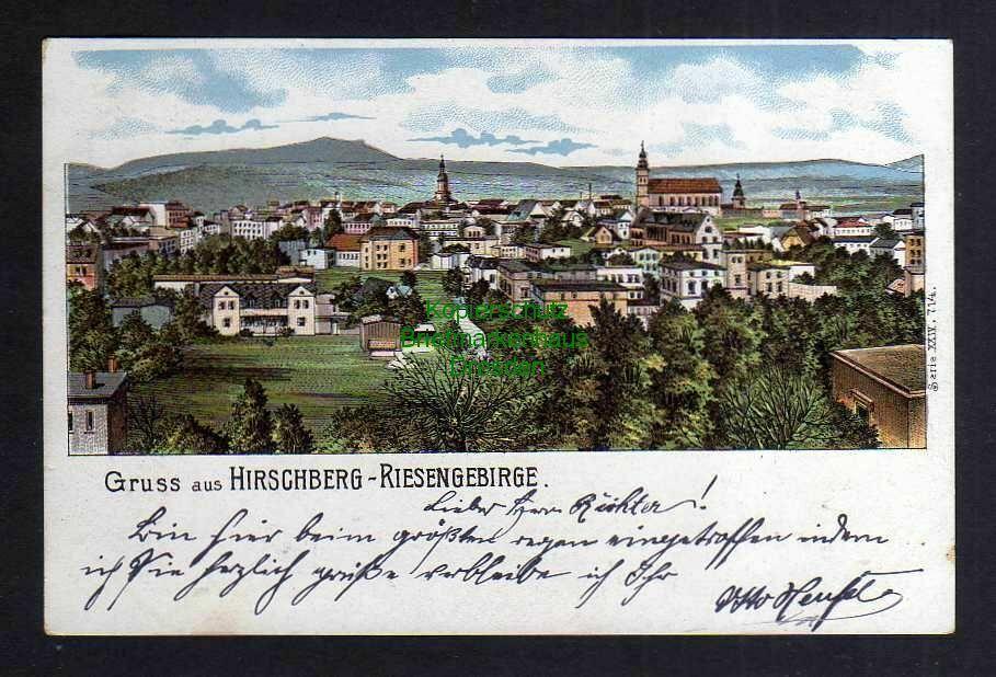 Ansichtskarte Hirschberg Riesengebirge 1902