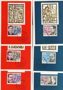 6 Maximumkarten DDR 1964 1014 - 1019 Antifaschisten Harnack