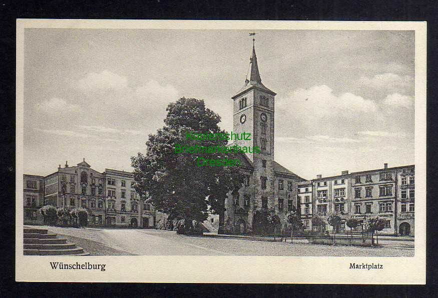 Ansichtskarte Radkow Wünschelburg Marktplatz Rathaus